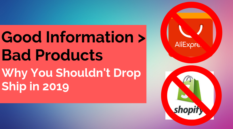 If You Don't Have a Good Product to Sell, Sell Information.